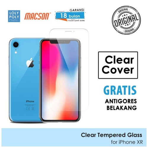 LOLYPOLY Clear Tempered Glass Premium iPhone XR Japan Quality 3D