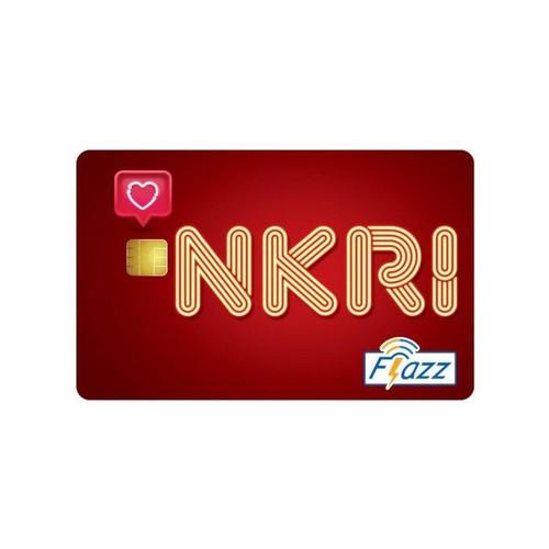 Kartu Flazz Limited Edition HUT RI Merah Berlogo Baru