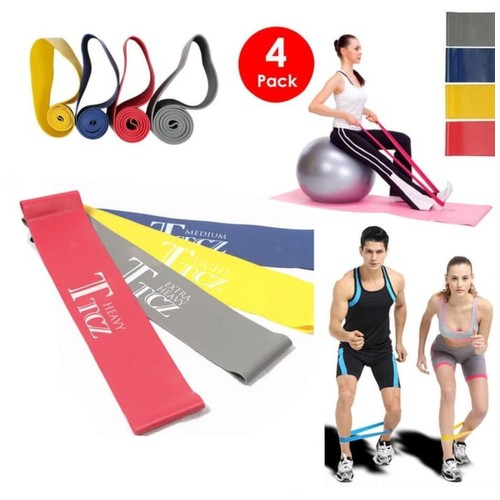 Branded Karet Yoga TTCZ Band Elastic Resistance for Fitness Gym Sport - Biru