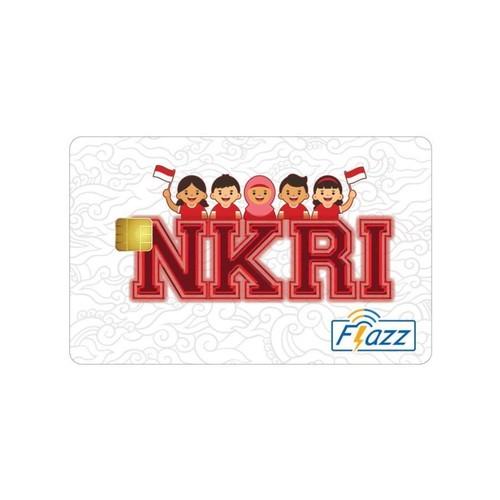 Kartu Flazz Limited Edition HUT RI Putih Berlogo Baru