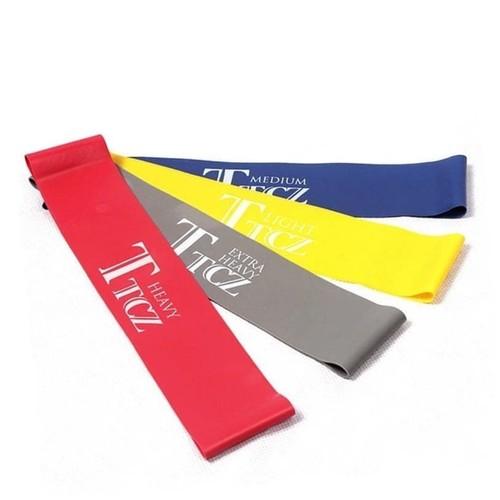 Branded Karet Yoga TTCZ Band Elastic Resistance for Fitness Gym Sport - Abu-abu Muda