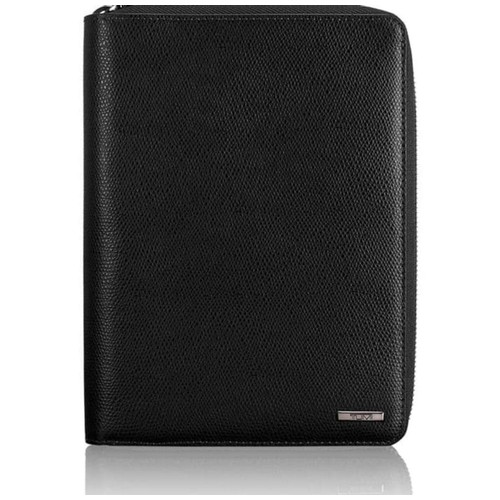 TUMI Province Family Passport Case Leather - Black