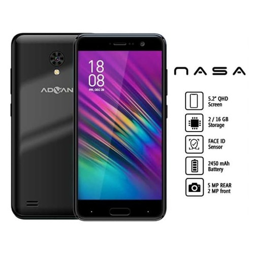 Advan Smartphone Nasa (RAM 2GB/16GB) - Dark Black