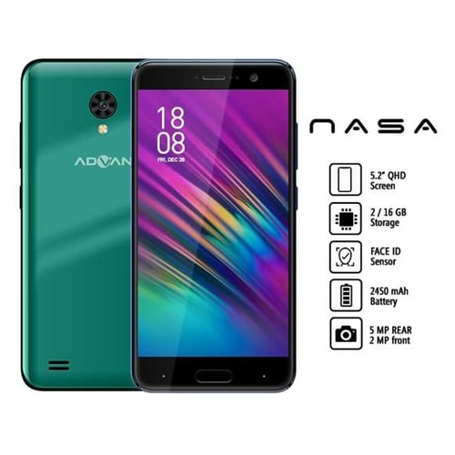 Advan Smartphone Nasa (RAM 2GB/16GB) - Green