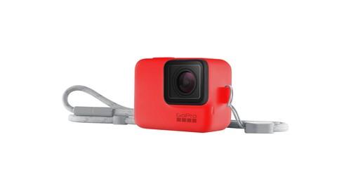 GoPro Sleeve + Lanyard Firecracker Red - GP-ACSST-012