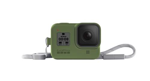 GoPro Sleeve + Lanyard (HERO8 Black) Turtle Green - GP-AJSST-005
