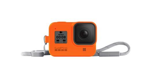 GoPro Sleeve + Lanyard (HERO8 Black) Hyper Orange - GP-AJSST-004
