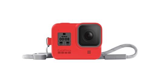 GoPro Sleeve + Lanyard (HERO8 Black) Firecracker Red - GP-AJSST-008