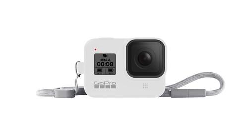 GoPro Sleeve + Lanyard (HERO8 Black) White Hot - GP-AJSST-002