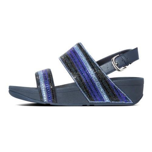 Fitflop Rosa Crystal Mosaic Back-Strap Women Sandal - Aurora Blue