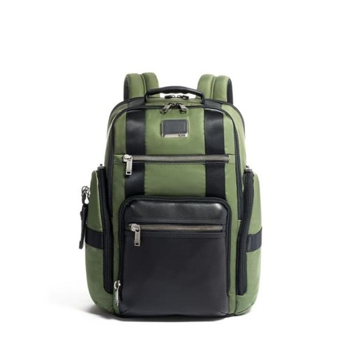 TUMI Alpha Bravo Sheppard Deluxe Brief Pack - Forest Green