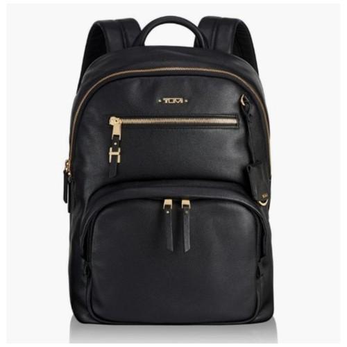 TUMI Voyageur Hagen Leather Backpack - Black