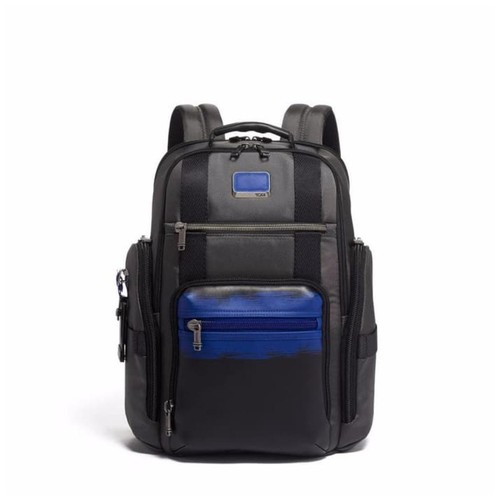 TUMI Alpha Bravo Sheppard Deluxe Brief Pack - Brushed Blue