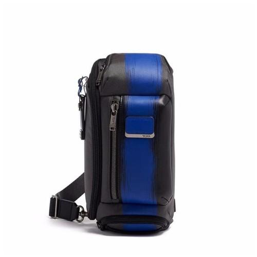 TUMI Alpha Bravo Kelley Sling Bag - Tas Selempang - Brushed Blue