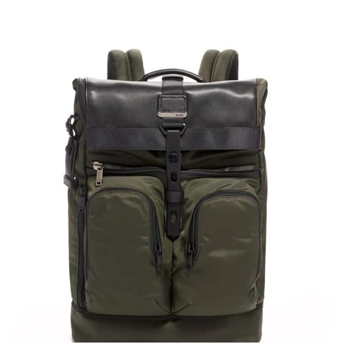 TUMI Alpha Bravo London Roll Top Ransel - Sprushed Green