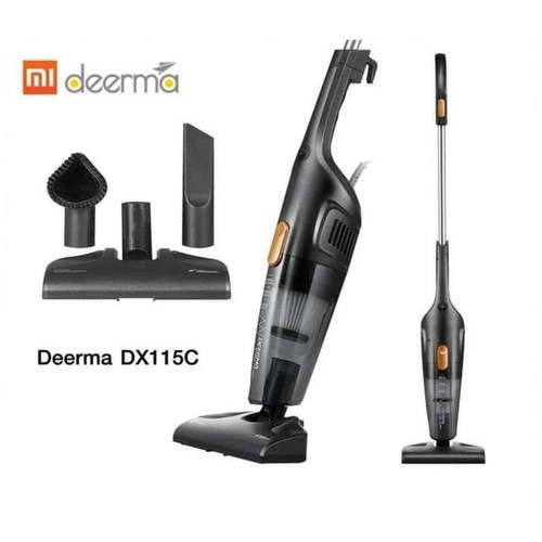 Xiaomi DEERMA DX115C Portable 2IN1 SILENT VACUUM CLEANER Penyedot Debu