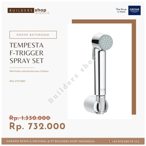 GROHE 27513001 - New Tempesta-F Trigger Spray Set / Jet Spray Chrome