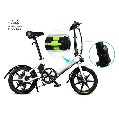 Fiido D3S Folding Electric Bike 16 Inch Tires 250W Motor 6 Speeds Shift 7.8Ah Lithium Battery