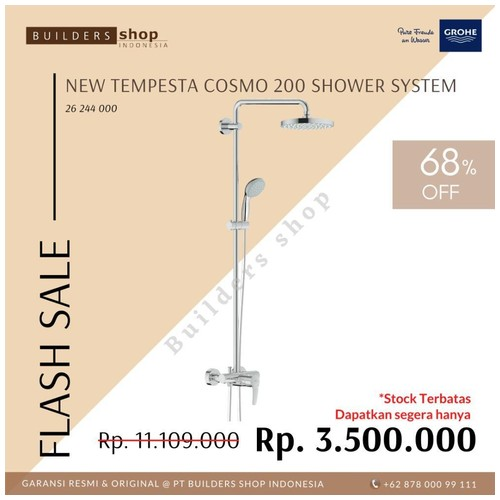 GROHE 26244000 - New Tempesta Cosmopolitan 200 Shower System Set