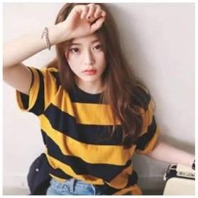 T-shirt Comfy Yellow Black