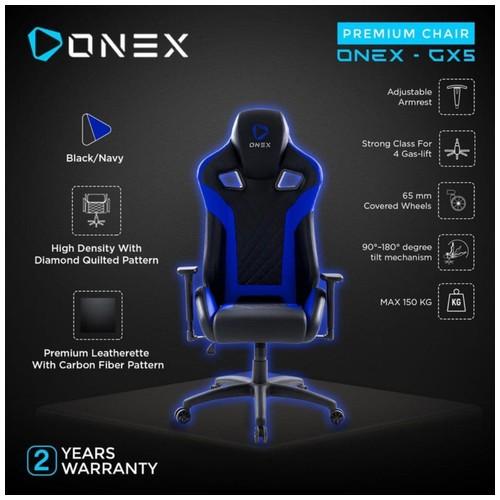 ONEX GX5 Premium Quality Gaming Chair Kursi - NAVY BLUE
