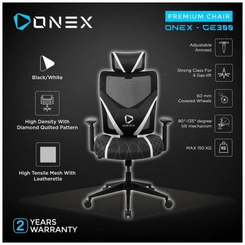 ONEX GE300 Premium Quality Mesh Gaming Chair - White