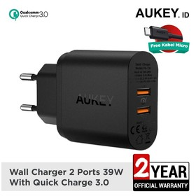 Aukey Charger 2 Ports 36W Q