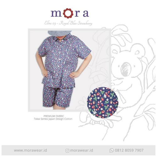 Mora Eline 03 Royal Blue Strawberry