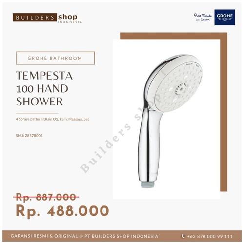 GROHE 28578002 - Tempesta 100 Hand Shower 4 Sprays Chrome