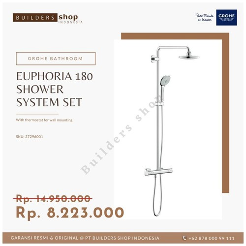 GROHE 27296001 - Euphoria System 180 Shower System with Thermostat