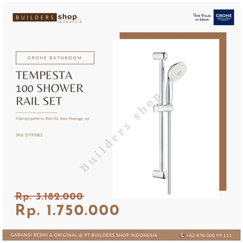 GROHE 27795001 - New Tempesta 100 Shower Rail Set 4 sprays