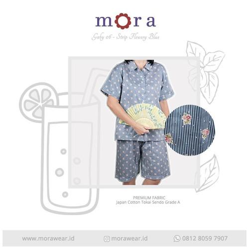 MORA Gaby 06 Strip Flowery Blue