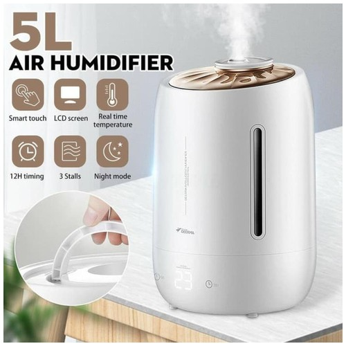 Xiaomi DEERMA F600 Air Humidifier 5L Pelembab Touch Screen with Timer - White