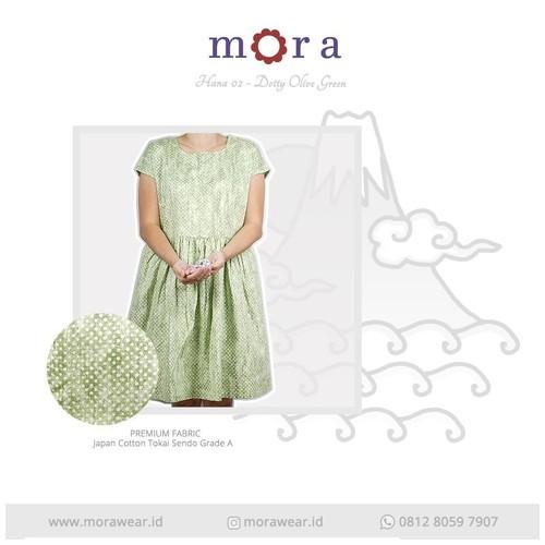 Mora Hana 02 Dotty Olive Green