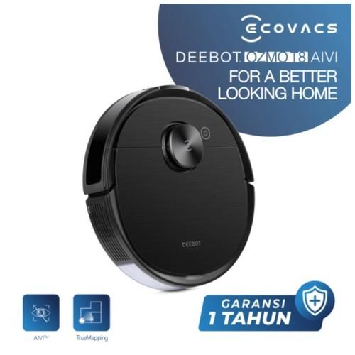 Ecovacs DEEBOT OZMO T8 AIVI Robot Vacuum Cleaner Mopping Mapping Multi-Floor Vacum Sapu Pel Vakum