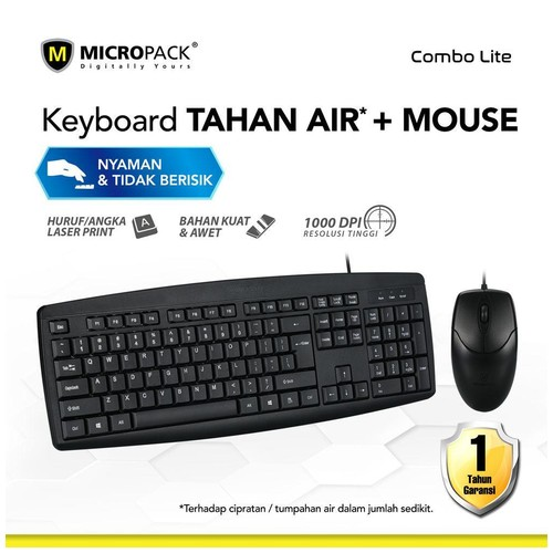 Micropack Wired Classic Combo Mouse Keyboard (KM-2003)