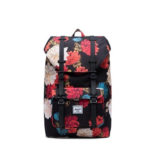 Herschel Little America Mid 17L Backpack - Vintage Floral Black AW19