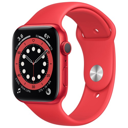 Apple Watch Series 6 GPS, 44mm PRODUCT(RED) Aluminium Case with PRODUCT(RED) Sport Band - Regular - M00M3ID/A