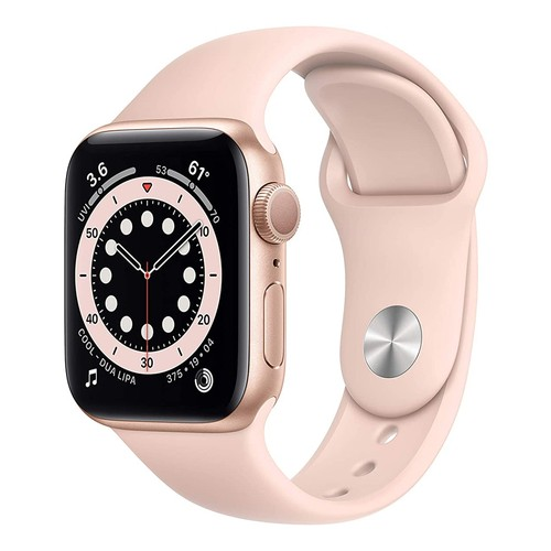 Apple Watch Series 6 GPS, 40mm Gold Aluminium Case with Pink Sand Sport Band - Regular - MG123ID/A