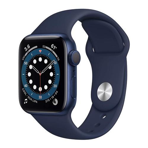 Apple Watch Series 6 GPS, 40mm Blue Aluminium Case with Deep Navy Sport Band - Regular - MG143ID/A