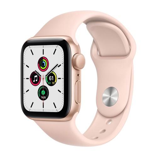 Apple Watch SE GPS, 40mm Gold Aluminium Case with Pink Sand Sport Band - Regular - MYDN2ID/A