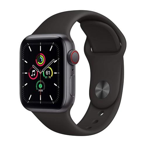 Apple Watch SE GPS, 40mm Space Gray Aluminium Case with Black Sport Band - Regular - MYDP2ID/A