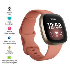 Fitbit Versa 3 - Pink Clay