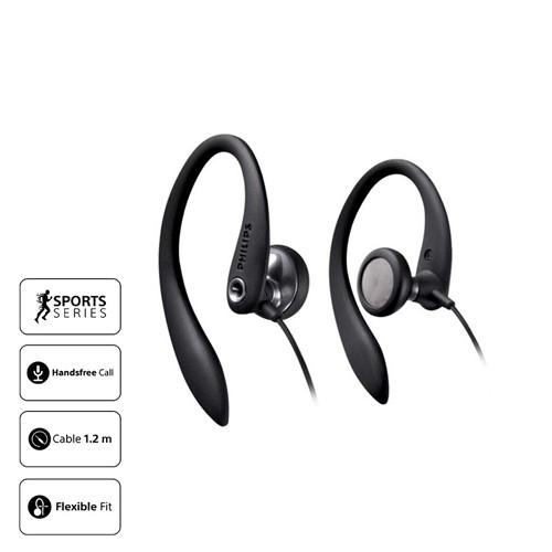 Philips Sport Earphone With Mic SHS3305 - Black