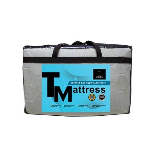 The Luxe 5 Folding Travel Mattress [70 x 200 cm] - Cream