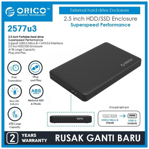 ORICO 2577U3 2.5 inch USB3.0 Hard Drive Enclosure