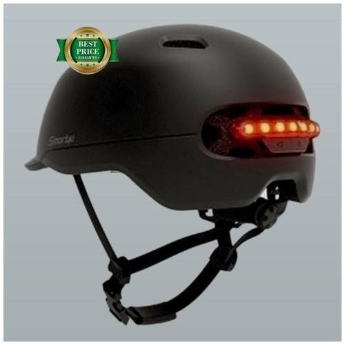 Xiaomi Youpin Smart4u Helm Sepeda City Light Riding Smart Flash Helmet Size L - Black