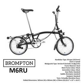 Brompton M6R Black 6 Speed