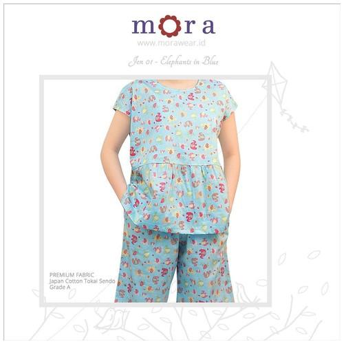 Mora Jen 01 - Elephants in Blue