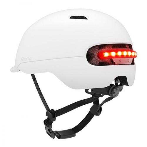 XIAOMI SMART4U Helm Sepeda City Light Riding Smart Flash Helmet Size L White